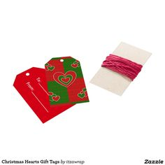Christmas Hearts Gift Tags Pack Of Gift Tags