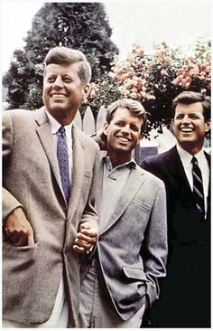 The Kennedy Brothers JFK RFK Ted 1960's Color Portrait Poster 11x17