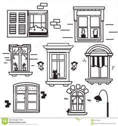 вычерченные окна руки - Скачивайте Из Более Чем 36 Миллионов Стоковых Фото, Изображений и Иллюстраций высокого качества. изображение: 24612498