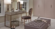 Dressing Room Essentials: 5 Interior Design Ideas - The Style Guide From LuxDeco Dressing Room Design, Dressing Area, Dressing Rooms, Dressing Tables, Simple Dressing Table, Dressing Table Decor, Closet Interior, Room Interior, Design Hall