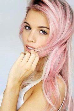 Pink Hairstyles - Rainbow Hair Colour