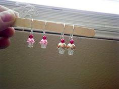 ▶ DIY Make Adorable Cupcake Bead Earrings! So Easy! - YouTube