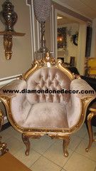 Baroque French Reproduction Rococo Victorian Wedding Louis XVI Chair | Diamond One Decor
