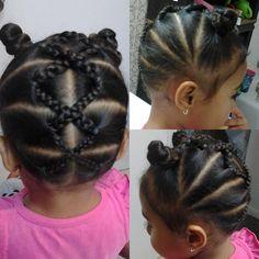 Little Girl Hairdos, Girls Hairdos, Lil Girl Hairstyles, Girls Natural Hairstyles, Kids Braided Hairstyles, Girls Braids, Cool Hairstyles, Toddler Hairstyles, Hairstyles Videos