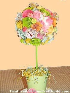 Paper flower topiary get crafting pinterest topiary wreaths paper flower topiary get crafting pinterest topiary wreaths and craft mightylinksfo