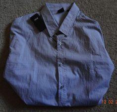 Boss Slim Fit 2XL Gray Button-Front 100% Cotton Long Sleeve Plaids & Checks #BossHugoBoss #ButtonFront