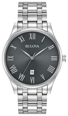 5f3c0d0676b Offer him a foolproof outfit accent with this suave stainless steel watch