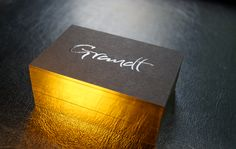 Business Cards With Edge Gilding Vollekante Druck