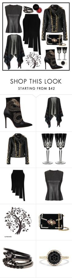 """""""Mission Monochrome"""" by leptismagna ❤ liked on Polyvore featuring Gianvito Rossi, Pyaar, Amen, Waterford, Opening Ceremony, Scoop, La Hacienda, Proenza Schouler, Effy Jewelry and Concrete Minerals"""
