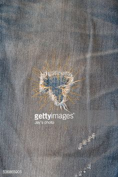 Stock Photo : Jeans textured