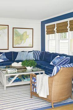 Dark Blue, Nautical Living Room
