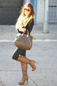 Tall boots and leggings