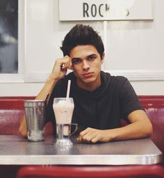 Mr. Brent Rivera) I'm so sick of grading. I took a break and went to get a shake..*sighs and rubs my face cause I'm extremely tired*