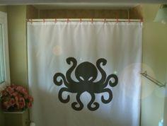 octopus shower curtain tentacle eight ocean cephalopod sea creature 8 bathroom decor kids bath curtains custom size long wide waterproof by eternalart on Etsy https://www.etsy.com/listing/59633006/octopus-shower-curtain-tentacle-eight