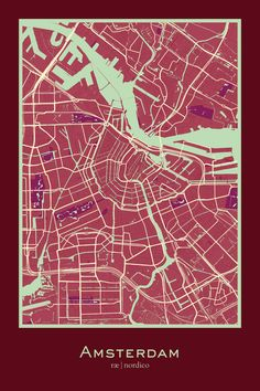Amsterdam, Netherlands Map Print