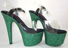 """Glitter Heels 7"""" Emerald – Cleo The Hurricane AU"""