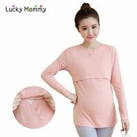 ee4bdca08 Long-sleeved Nursing Top - Shop Cheap Long-sleeved Nursing Top from China  Long-sleeved Nursing Top Suppliers at Lucky Mommy on Aliexpress.com
