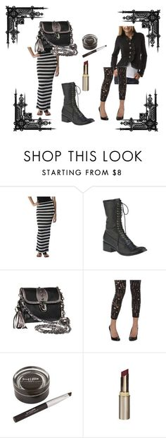 """""""Everyday Goth on a budget, part 1"""" by cupcakegoth ❤ liked on Polyvore featuring Xhilaration, Dolce Vita, CO and L'Oréal Paris"""