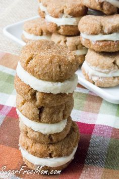 Snickerdoodle Creme Cookies #lowcarb #keto Sugar Free Mom