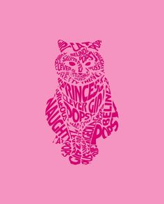 Cats & Typography Sophia's love of cats is definitely going to play a big part in the design of the double page spread for her with thi. Typography Fonts, Typography Design, Hand Lettering, Vector Design, Graphic Design, Paris Wallpaper, Pink Cat, Pattern Wallpaper, Word Art