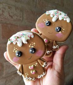 49 New Ideas Cookies Gingerbread Man Fun Gingerbread Man Cookies, Christmas Sugar Cookies, Christmas Sweets, Christmas Gingerbread, Holiday Cookies, Christmas Baking, Gingerbread Men, Cookies Cupcake, Fancy Cookies