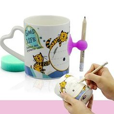 Shanshan Lovey Cat Penguin Pattern Leaving Message Mug Coffee Cup -- Don't get left behind, see this great  product