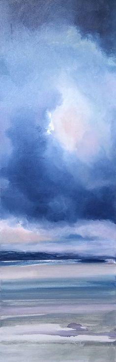 Bord de mer peinture originale huile sur toile par EmmanuellePriss