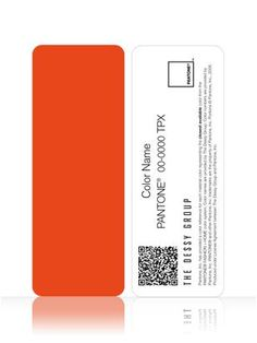 [tangerine tango] Coordinate the colors of your wedding with these color chipletts from Pantone!