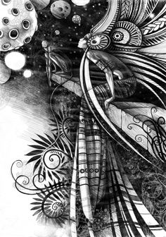 The drawing by Lesya Nedzelskaya, via Behance