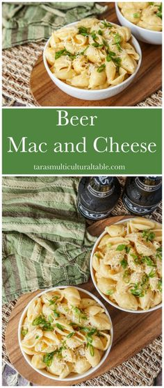 Beer Mac and Cheese and Buellton, California - Tara's Multicultural Table- Packed with three types of cheese and beer, this creamy stovetop Beer Mac and Cheese comes together in less than 20 minutes. Yummy Pasta Recipes, Cheese Recipes, Great Recipes, Soup Recipes, Amazing Recipes, Delicious Recipes, Easy Recipes, Vegetarian Recipes, Pasta Dishes