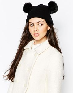 Monki | Monki Pom Ears Beanie Hat at ASOS