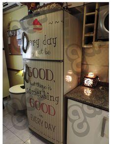 vinilos decorativos para heladeras - showroom en almagro!!
