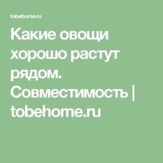 Какие овощи хорошо растут рядом. Совместимость   tobehome.ru