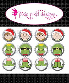 INSTANT DOWNLOAD  Girl and Boy  Elf Christmas by Czardviii on Etsy, $5.00