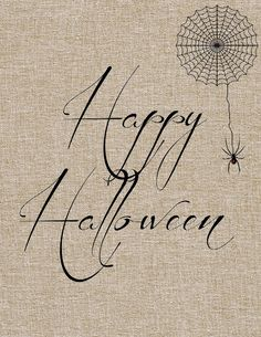 Free Halloween printables - this burlap background is so cute!