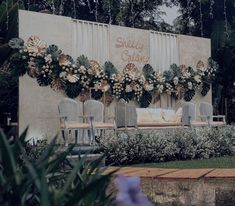 3 Types of Outdoor Wedding Decoration You can choose to design your wedding with an outdoor wedding decoration gazebo, or you can have a traditional outdoor wedding with an indoor gazebo. Gazebo Wedding Decorations, Wedding Stage Backdrop, Wedding Backdrop Design, Wedding Stage Design, Rustic Wedding Backdrops, Backdrop Decorations, Rustic Backdrop, Just In Case, Javanese Wedding
