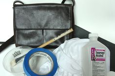 DIY Colorblock Bag A.K.A. How to Paint Leather with Acrylic Paint