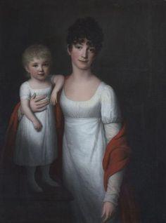Friedrich Carl Gröger (1766–1838)  Portrait of Baroness Charlotte Ulrike von Rosenkrantz and her daughter Axeline  1805