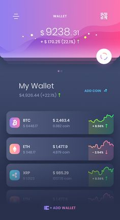 some new wallet UI design, done in Sketch