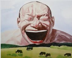 Yue Minjun, YOUR SMILE IS A SUNNY DAY (SMILE-ISM NO. 8) on ArtStack #yue-minjun-yue-min-jun #art