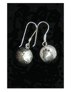 Tennis Earrings, Sterling Silver Hanging Ball Earrings