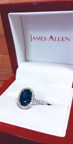 18K White Gold Pave Set Engagement Ring