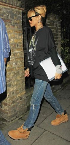 love rihanna and her outfit in london! We found love...