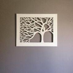 Canvas Cut Tree by DzignCustomArt on Etsy