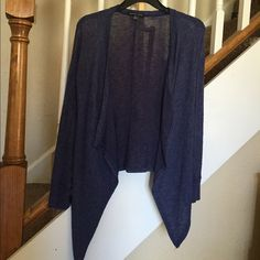 American Eagle sheer cardigan Soft sheer comfortable American eagle draped cardigan. Drapes perfectly. Cropped design in back. Beautiful blue color. Looks great with jeans. No stains no tears. Great condition. This will be your go to cardigan. American Eagle Outfitters Sweaters Cardigans