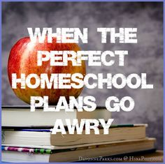 When the perfect homeschool plans go awry ~ encouragement and hope for the tough times