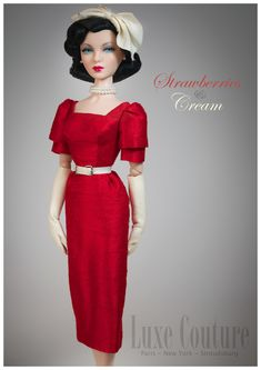 """IT Gene Marshall ~ """"Red Parasol"""" in D.A.E. Originals dress 'Strawberries and Cream' ~ Image and styling by Tom Logan ~ The Studio Commissary/kw"""