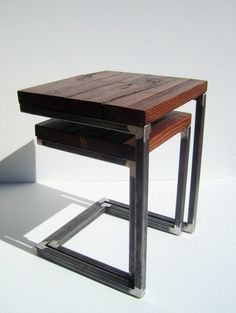 Reclaimed wood with welded frame... Mike can do this.