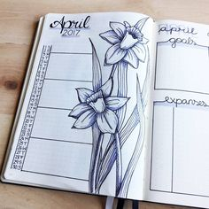 April is coming... Share my April month overview with you. Those flowers are typical for this time and I really like this flourish style in my bullet journal. Still enjoy my own kind of calendar so much. So I wish you a wonderful next month my friends.  #journal #bulletjournal #bujo #bujojunkies #wearebujo #planner #planning #kalender #inspiration #bulletjournallove #notebook #organisation #artwork #creative #beingcreative #creatives #bujoaddict  #bulletjournaling #bujocommunity…