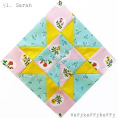 verykerryberry: Farmer's Wife 1930s Quilt Along Blocks 91 and 92 Sarah and Sonnie